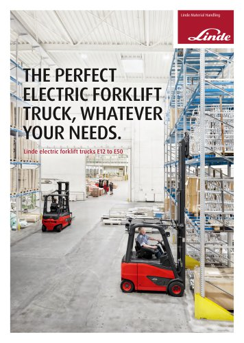 Linde electric forklift trucks E12 to E50