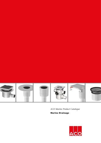 ACO Marine Product catalogue Drainage 2017