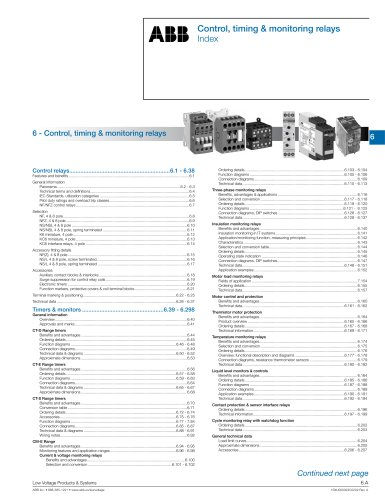 2013 Product selector - 06 Relays: control relays, timers & controls complete section