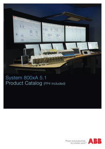 System 800xA 5.1 Product Catalog (FP4 included)