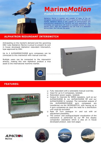 Alpha Redundant Interswitch/Alphacomparator