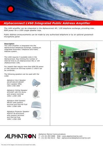 Alphaconnect LV60 PA