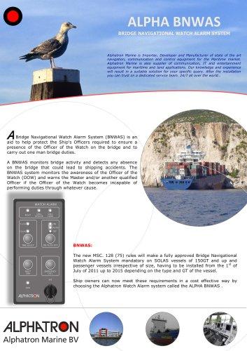 BNWAS (Bridge Navigational Watch Alarm Systems) AlphaBNWAS