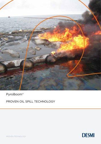PYROBOOM Proven oil spill technology