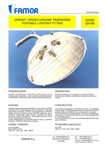 deck floodlight for ships 250-499 W OZ4063
