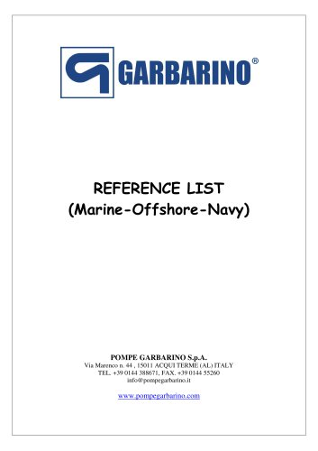 Reference List (Marine-Offshore-Navy)