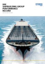 HHI SHIPBUILDING GROUP PERFORMANCE RECORD