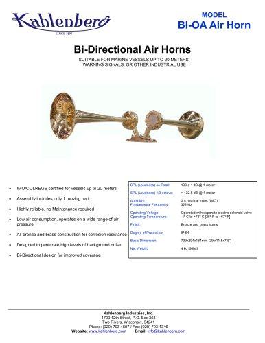 BI-0A Industrial Air Horn