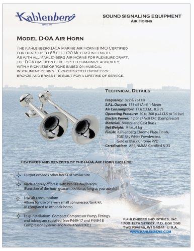 Model D-0A Air Horn