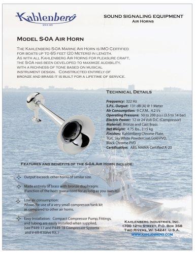 Model S-0A Air Horn
