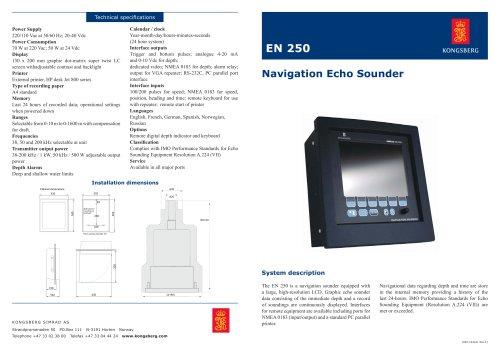echo sounder for ships EN 250