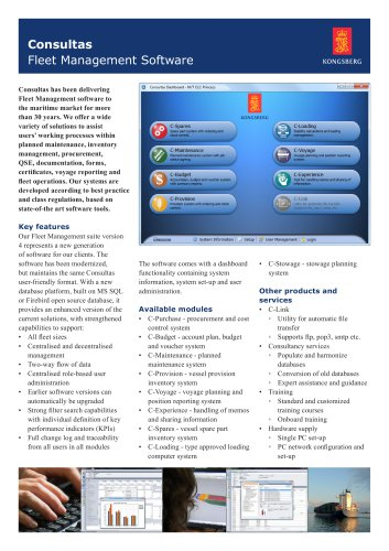Marine Fleet Management Software