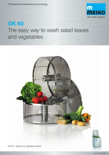 Catalogue Automatic lettuce and vegetable washing machine GK 60
