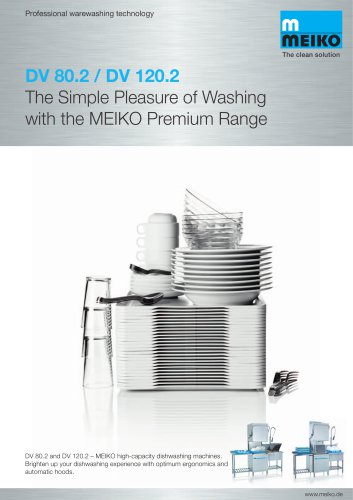 Catalogue Hood-type glass and-dishwashing machines Premium-line DV 120.2