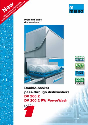 Catalogue Hood-type glass and-dishwashing machines Premium-line DV 200.2