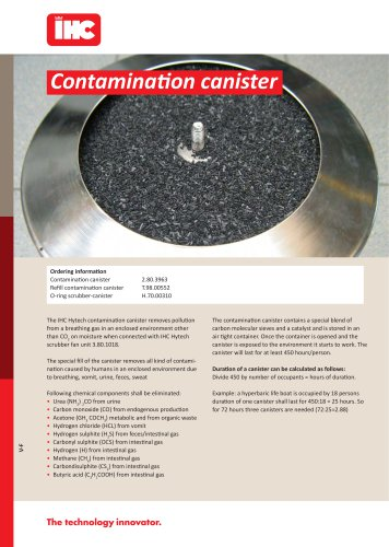 Contamination canister