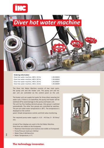 Diver hot water machine