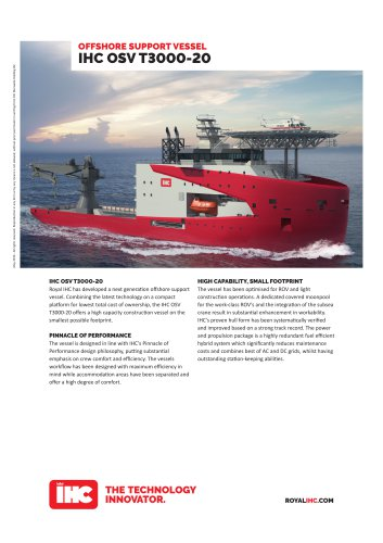 OFFSHORE SUPPORT VESSEL IHC OSV T3000-20