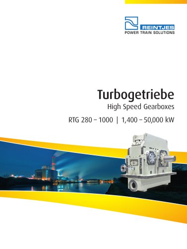 High Speed Gearboxes RTG 280 - 1000