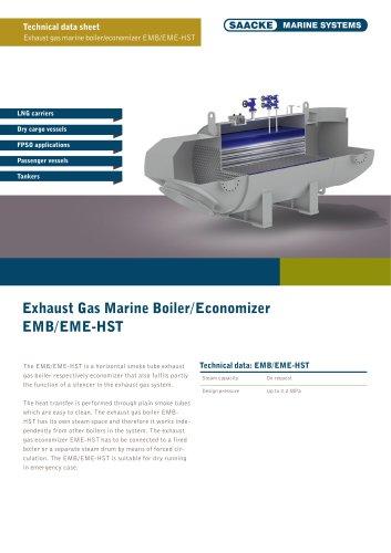 Exhaust Gas Marine Boiler EMB-HST Exhaust Gas Marine Economiser EME-HST