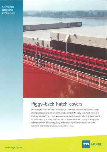 Piggy-back hatch cover