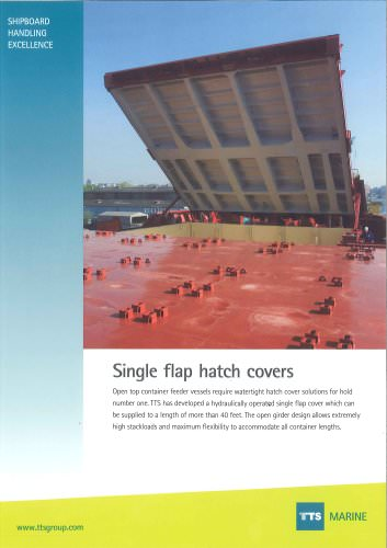 Single flap hatch cover