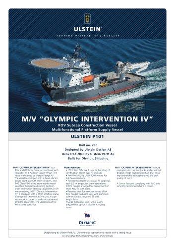 """M/V """"OLYMPIC INTERVENTION IV"""""""