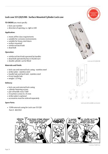 Lock case 5312/8/5390