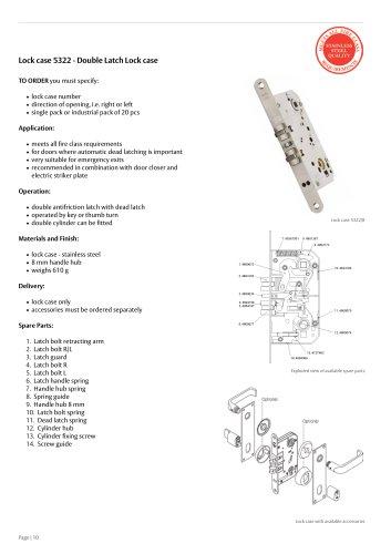 Lock case 5322/8