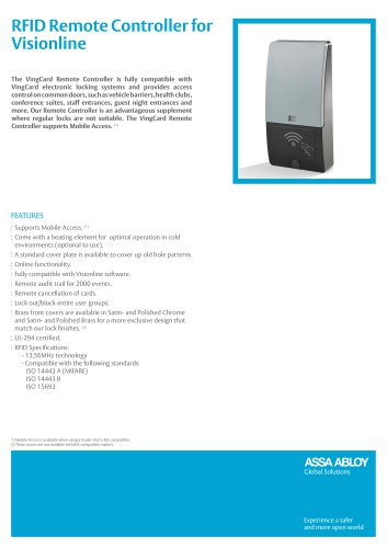 RFID Remote Controller for Visionline