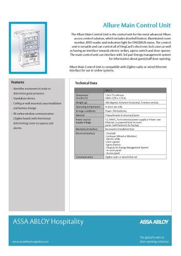 VingCard Allure Main Control Unit Technical Sheet