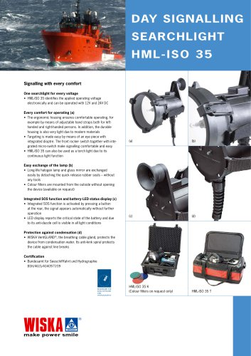 Day signalling searchlight (HML-ISO 35)
