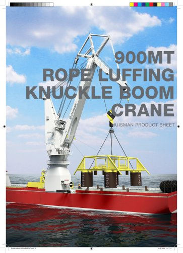 900MT ROPE LUFFING KNUCKLE BOOM CRANE
