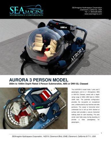 AURORA 3 PERSON MODEL
