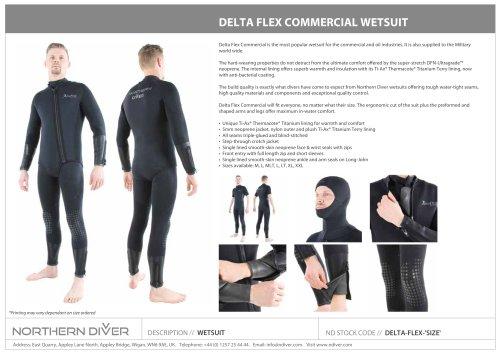 DELTA FLEX COMMERCIAL WETSUIT