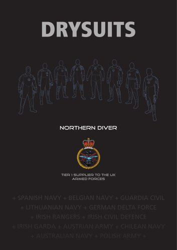 RECREATIONAL DIVING PRODUCT / DRY SUIT BROCHURE