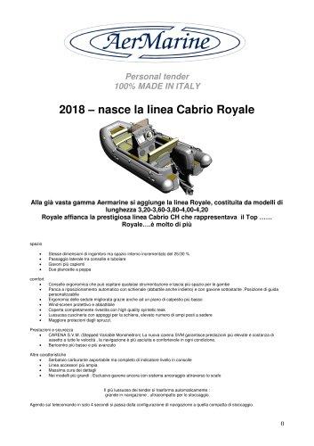 Cabrio Royale novità 2018
