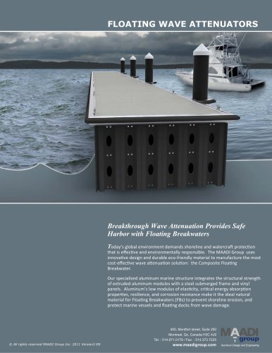Floating breakwater system