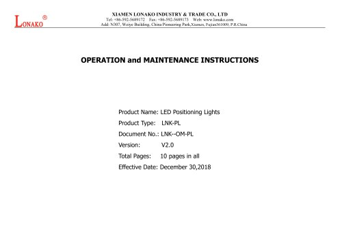 LED Positioning Lights