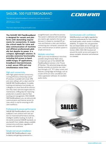 SAILOR 500 FleetBroadband System