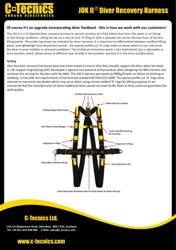 Jok II Diver Recovery Harness