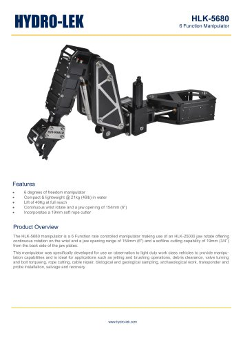 HLK-HD6W - 6-Function HD Manipulator