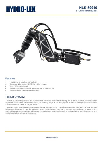 HLK-RHD5 - 5-Function HD Manipulator