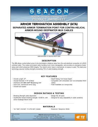 ARMOR TERMINATION ASSEMBLY (ATA)