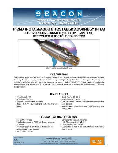 FIELD INSTALLABLE & TESTABLE ASSEMBLY (FITA)