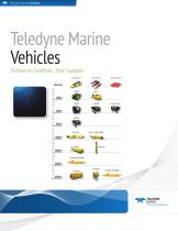Teledyne Marine Vehicles Comparison Brochure