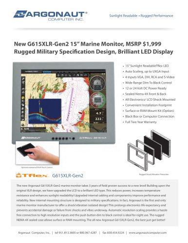 "New G615XLR-Gen2 15"" Marine Monitor,"