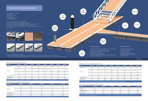 Aluminum Small Boat Dock System