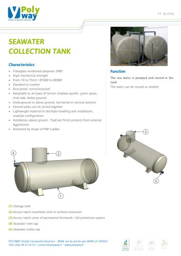 SEAWATER COLLECTION TANK