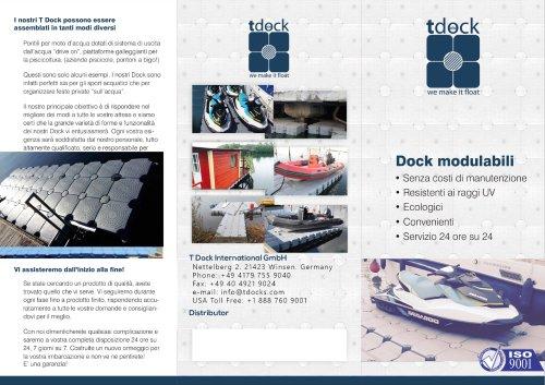 T Dock Brochure Italian